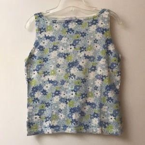 Ann Taylor LOFT Sleeveless Floral Sweater
